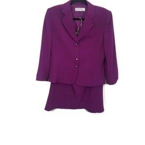 Tahari Purple Skirt Set Size 10